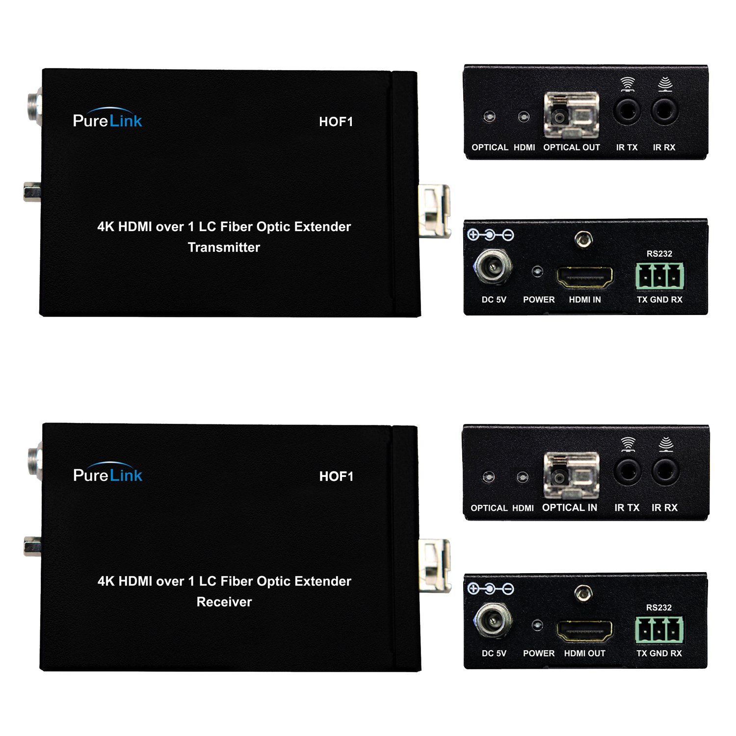 HOF1 Tx/Rx Ultra HD/4K HDMI over One Fiber Extension System